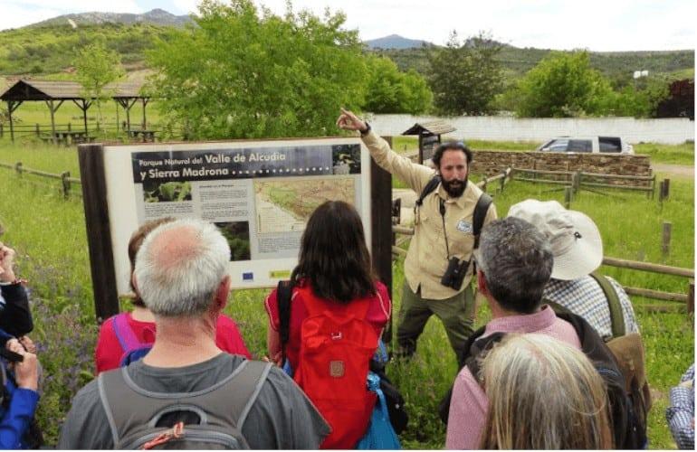 Explicación senderismo Valle de Alcudia