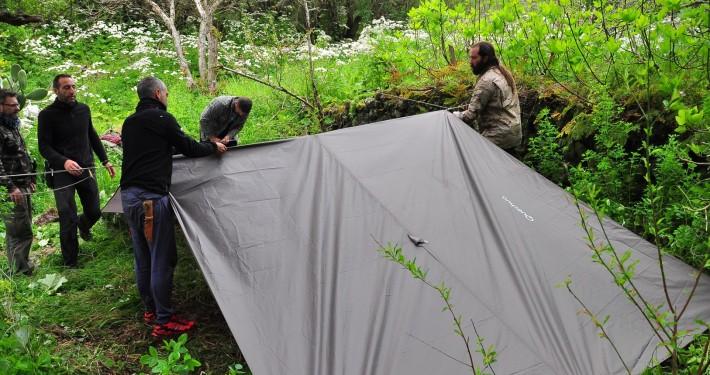 Montando campamento Bushcraft