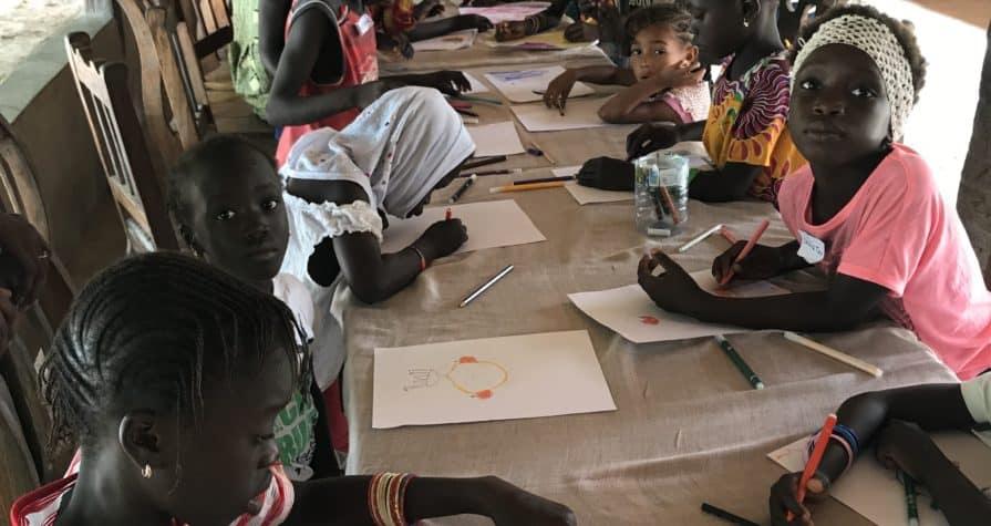 Niños escuela Senegal