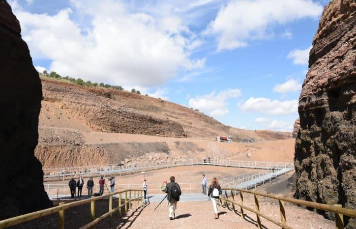 Visita en el Volcan de Cerrogordo